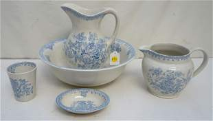 5 PC BURLEIGH ASIATIC PHEASANTS WASH SET