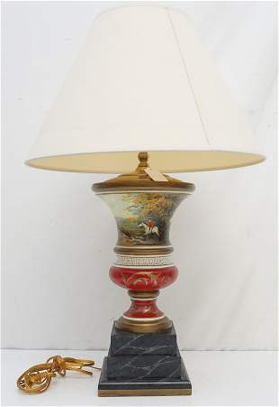 BRUNSCHWIG & FILS HAND PAINTED TABLE LAMP