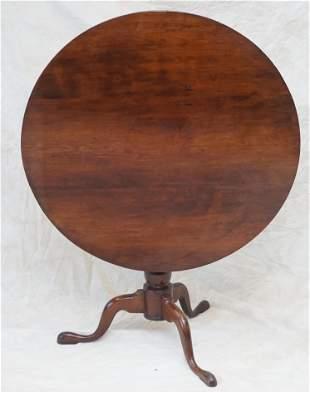 LARGE GEORGE III BIRDCAGE TILT TOP TEA TABLE