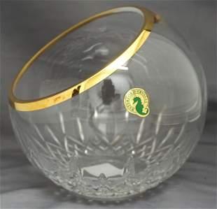 WATERFORD CRYSTAL LISMORE GOLDEN ROSE BOWL