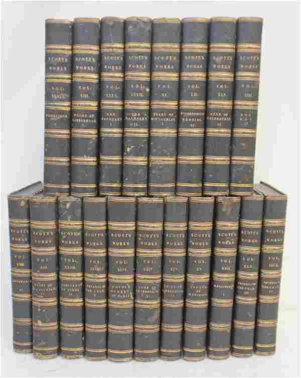 19 VOLUMES SCOTT'S WORK - NOVELS 1830s