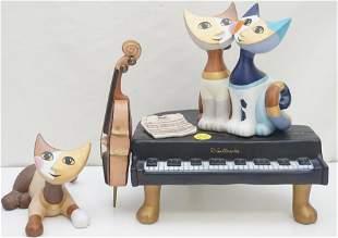 2 PC GOEBEL CATS ROSINA WACHTMEISTER MUSIC BOX