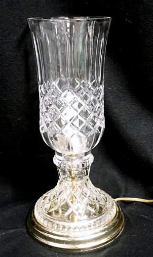 MOLD BLOWN HURRICANE ELECTRIFIED LAMP