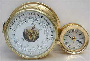 2 BRASS SHIPS CLOCKS