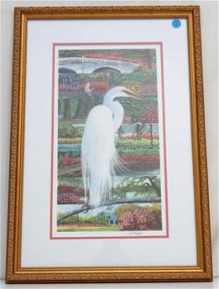 JACK THAMES (1927-2015) GREAT WHITE EGRET