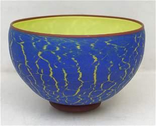GARRY NASH STUDIO ART GLASS BOWL