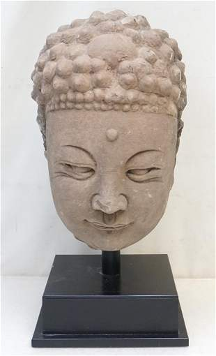 TANG DYNASTY STONE HEAD OF BUDDHA