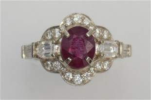 2.81CT RUBY & DIAMOND RING 14KT (GIA REPORT RUBY)