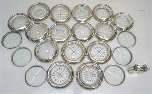 22 PC AMERICAN STERLING SILVER COASTERS +
