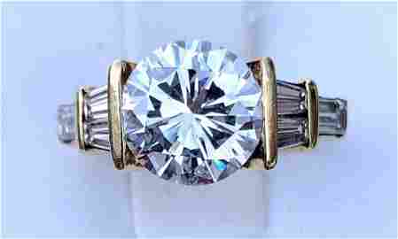 3.10CT ROUND BRILLIANT DIAMOND RING (SIZE 5.5)