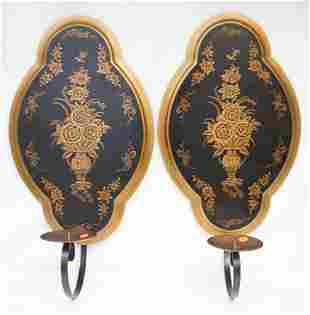 PAIR OF LARGE JEANNE REED WILLIAMSBURG CANDLE SCONCES