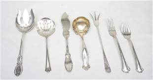 7 pc STERLING SILVER SERVING ITEMS
