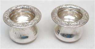 KIRK STERLING SILVER REPOUSSE TOOTHPICK HOLDERS