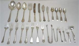 26 pc STERLING & COIN SILVER FLATWARE