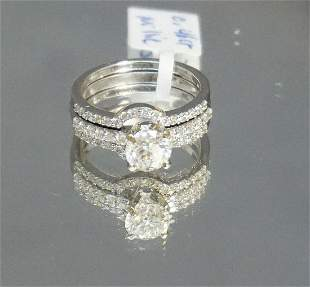 DIAMOND ENGAGEMENT RING SET (SZ 6.5)