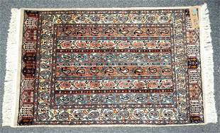 HAND KNOTTED WOOL BOKHARA RUG