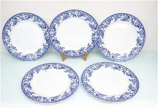 5 SPODE DELAMERE BLUE CHOP PLATES