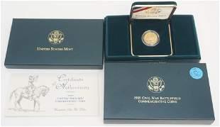 1995 $5 CIVIL WAR BATTLEFIELD COMMEMORATIVE GOLD COIN