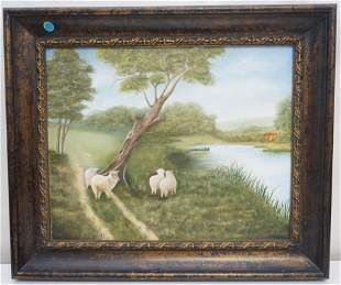 PASTORAL SHEEP OIL ON CANVAS