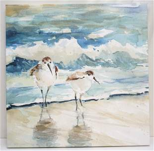SANDPIPERS ON THE BEACH GICLEE
