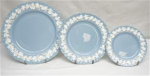 31 pc WEDGWOOD BLUE QUEENSWARE CHINA