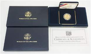 1994 $5 GOLD USA WORLD CUP COIN