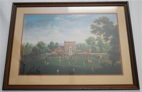 LARGE CRICKET MATCH AT KENFIELD PRINT