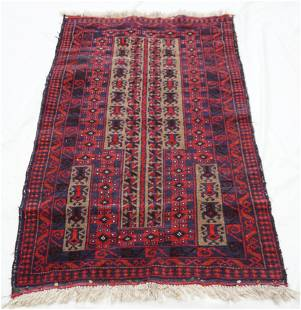 ANTIQUE HAND KNOTTED PRAYER RUG