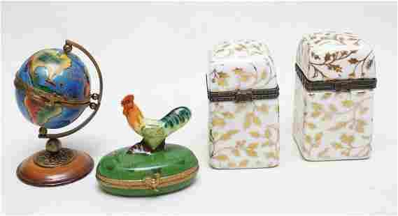 4 LIMOGES & OTHER PORCELAIN BOXES