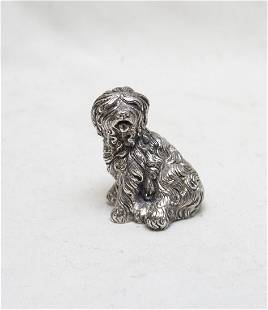 STERLING SILVER SHAGGY DOG FIGURE