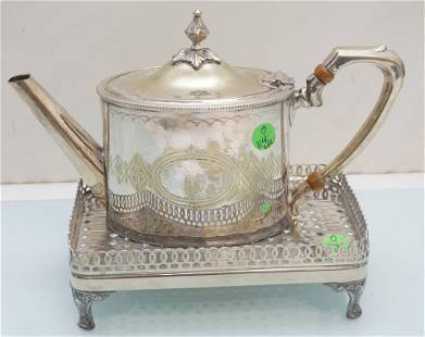 2 PC SILVERPLATE TEAPOT & STAND