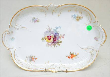 ROSENTHAL HAND PAINTED PANSY TRAY