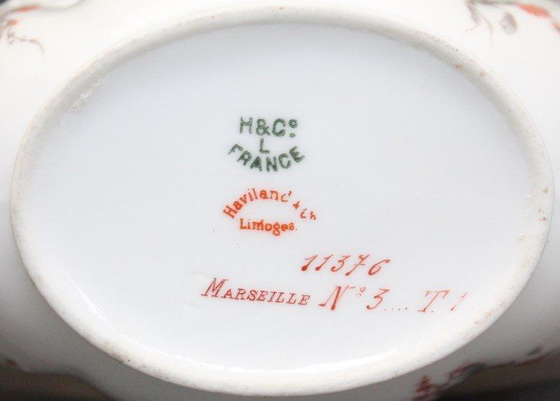 ANTIQUE 19th c HAVILAND LIMOGES MOUSTACHE CUP & SAUCER - 10