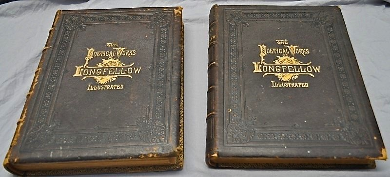 2 VOL 1879 POETICAL WORKS OF HENRY WADSWORTH LONGFELLOW