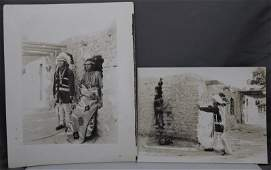 2 NAVAJO BRAVES PHOTOGRAPHS 1920s  DONATI