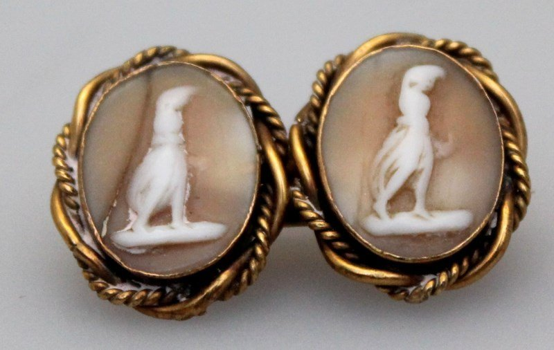 4 pc EDWARDIAN / VICTORIAN  CAMEO BROOCHES - 3