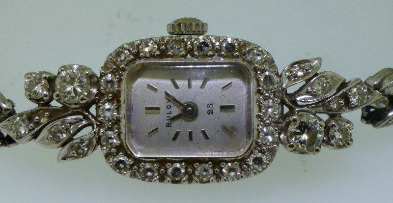 DIAMOND 14K GOLD LADIES WATCH - 2