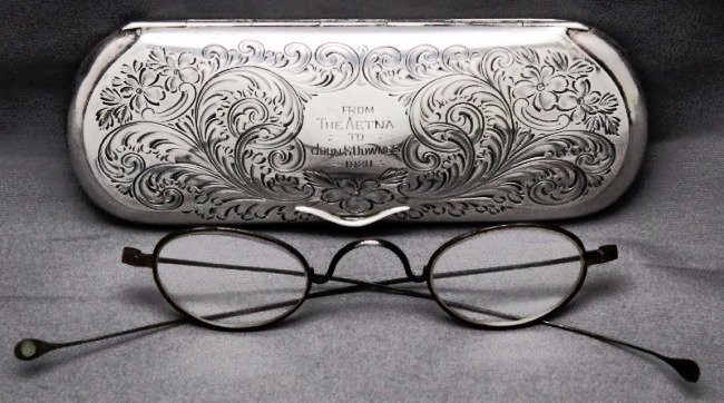 STERLING SILVER EYEGLASS CASE 1920