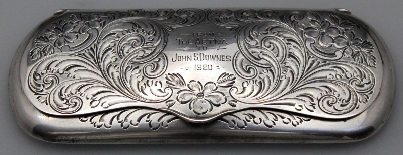 STERLING SILVER EYEGLASS CASE 1920 - 9