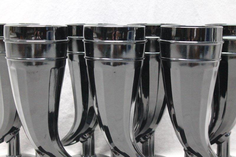 7 pc TIARA BLACK AMETHYST PILSNER GLASSES - 3