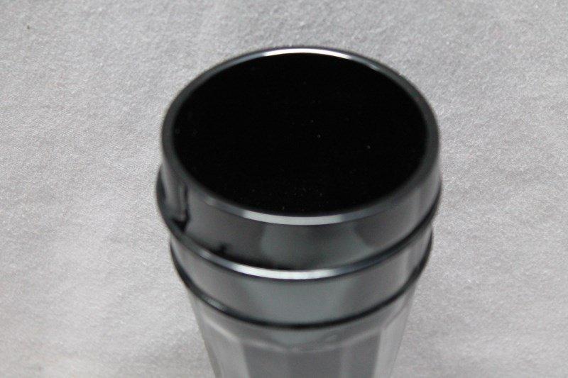 7 pc TIARA BLACK AMETHYST PILSNER GLASSES - 8