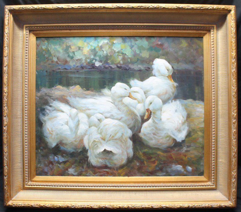 20th c. VALOIS DUCK OIL PTG - FRENCH