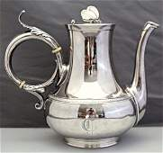 GORHAM STERLING AESTHETIC BUTTERFLY COFFEE/TEA POT