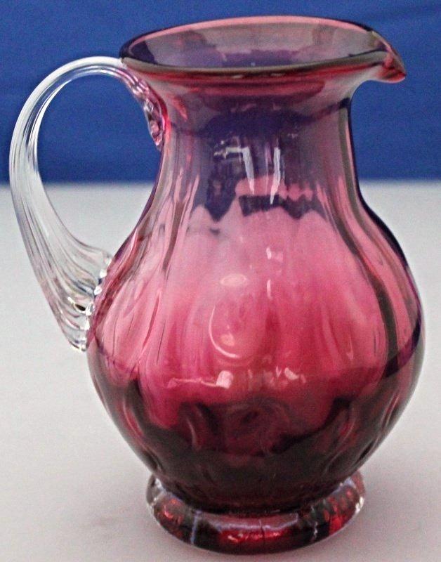 PILGRIM CRANBERRY GLASS JUG