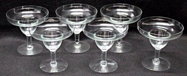 6pc VINTAGE CRYSTAL MARGARITA / SHRIMP COCKTAIL GLASSES