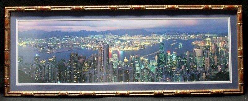 HONG KONG SKYLINE FRAMED