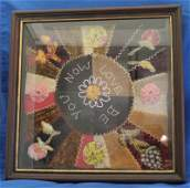 FRAMED CRAZY QUILT NOW LOVE BE YOU