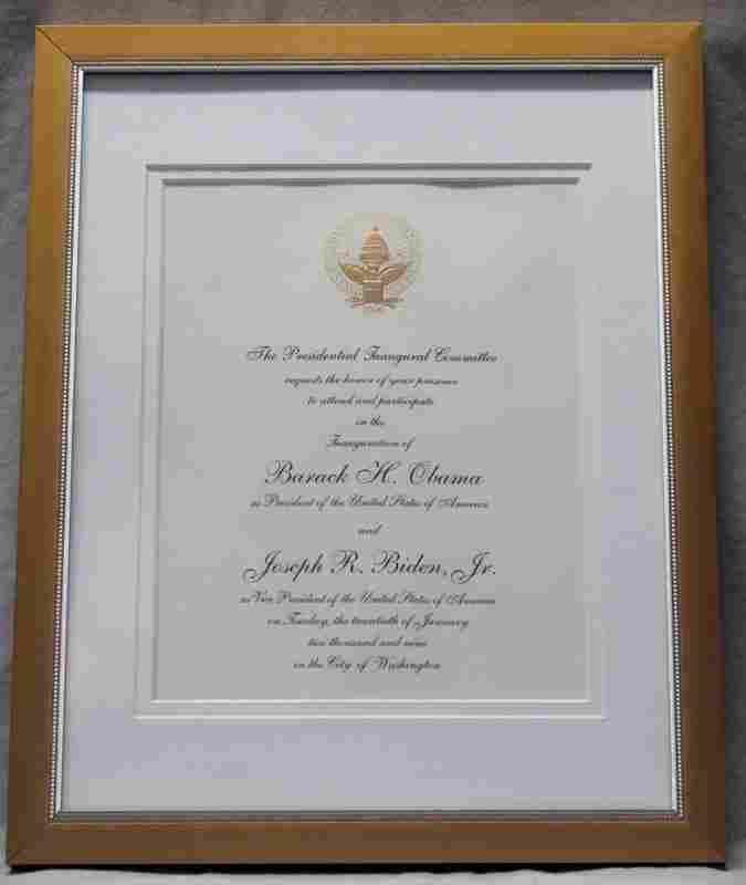 INAUGURAL INVITATION BARACK OBAMA JOE BIDEN 2009