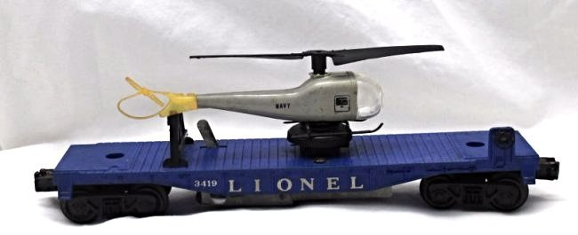 LIONEL 1959 NAVY FLATCAR 3419