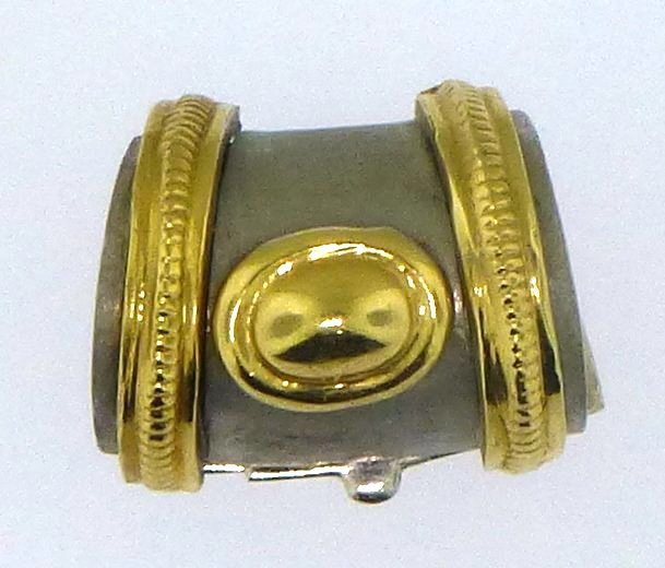14KT TWO TONE GOLD SLIDE/PEARL CLASP
